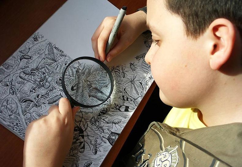 Дэлхийг гайхшруулсан 11 настай зураач хүү