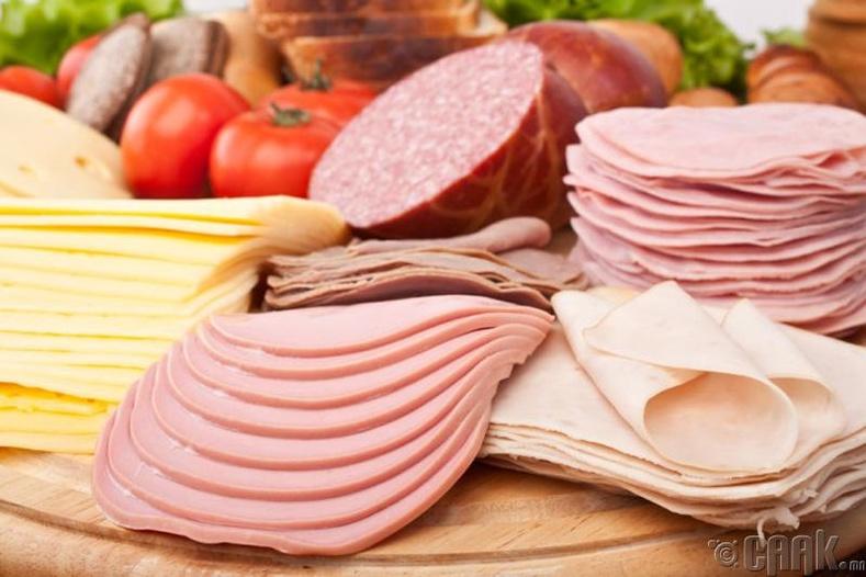 Идэж болохгүй - Боловсруулсан мах болон бяслаг