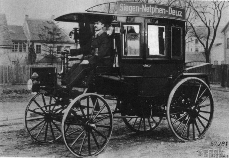 Дотоод шаталтын хөдөлгүүртэй анхны автобус