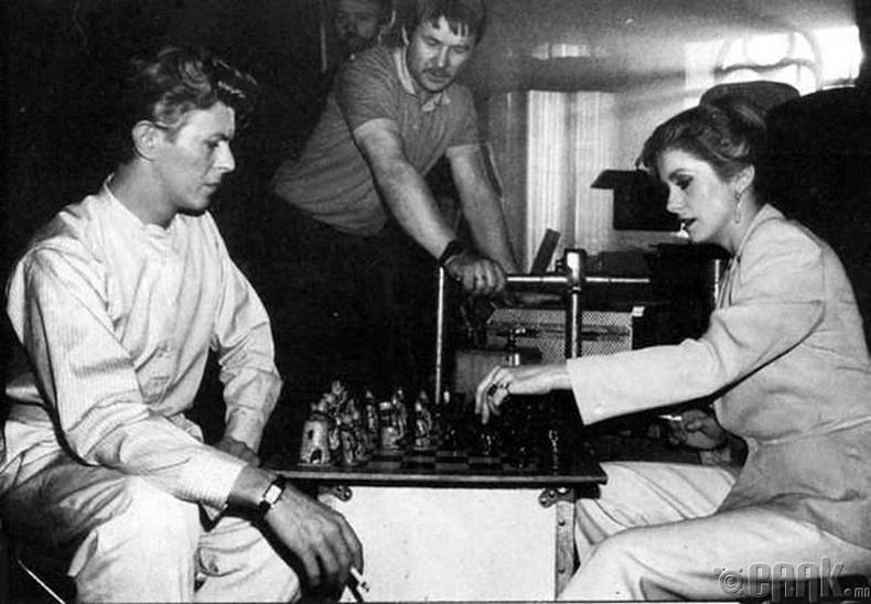 Дэйвид Боуи (David Bowie) шатар тоглож байна