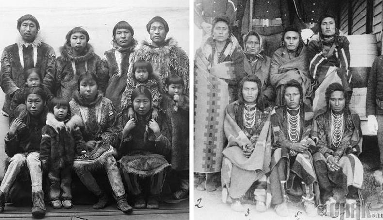 Америкийн уугуул иргэд бол Оросын эскимосуудын удам