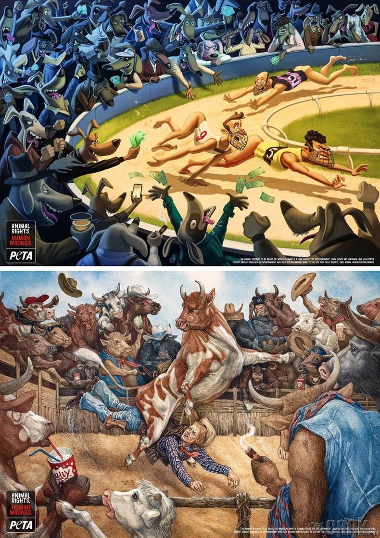 """Амьтны эрхийг хамгаалдаг """"PETA"""" байгууллагын зурагт хуудас"""