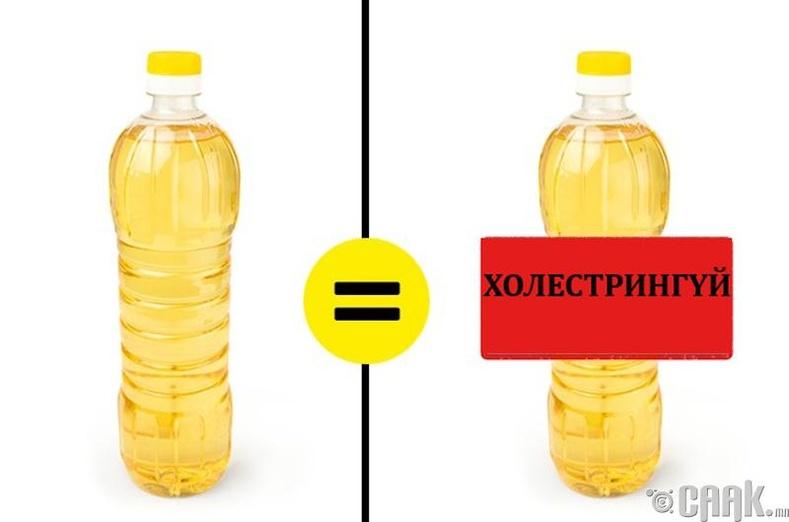 Муу ургамлын тос холестрингүй байдаг
