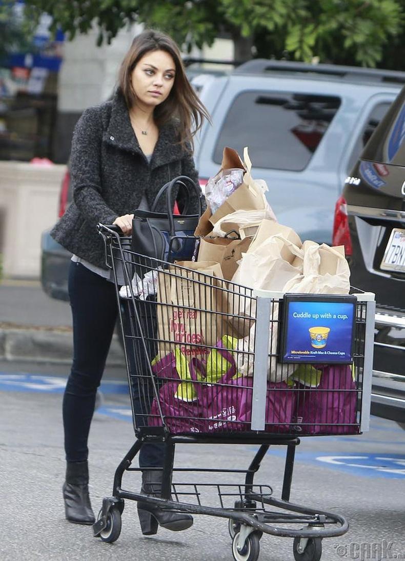 Мила Кунис (Mila Kunis) 250-хан доллартай Америкт ирж байжээ