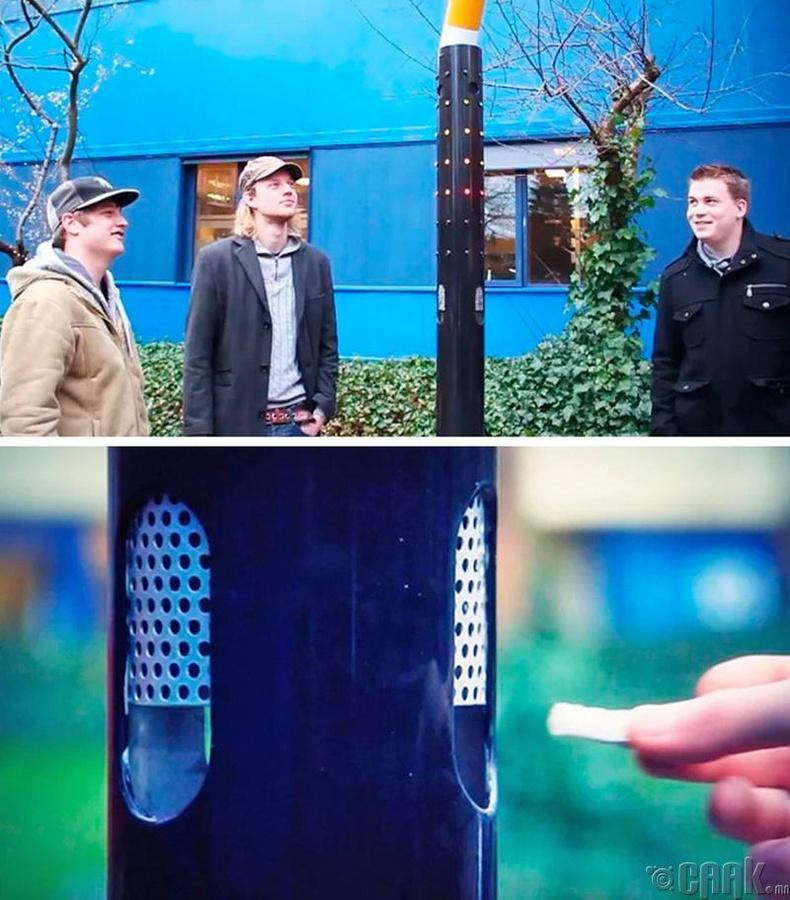 Лондон хотод тамхийг зайнаас асаадаг шон байрлуулж эхэлжээ