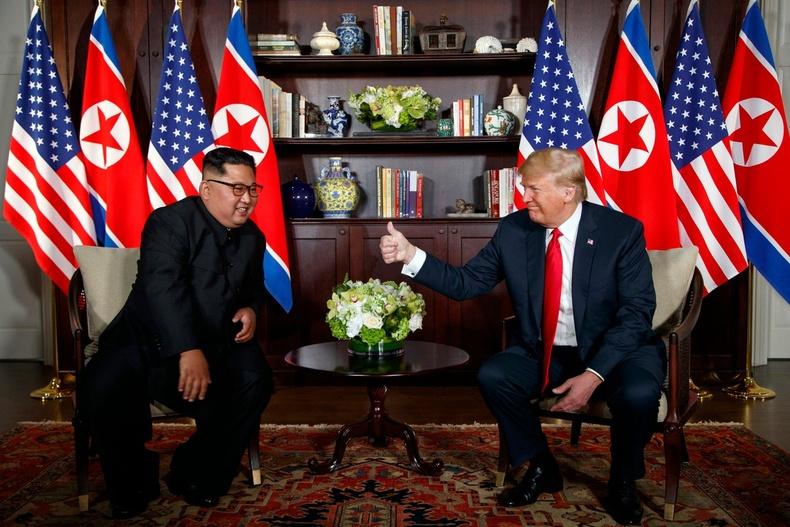 Сингапурын Сентоза арал дээр Ким Жон Унтай уулзав (2018.6.12)