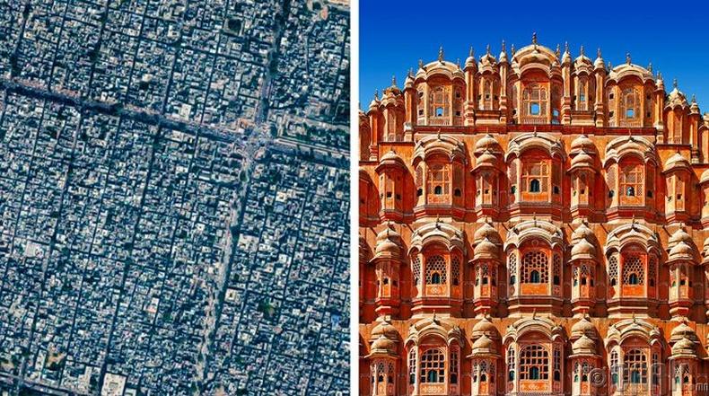 Жайпур: Тэгш өнцөгт хэлбэртэй, ягаан чулуун хот