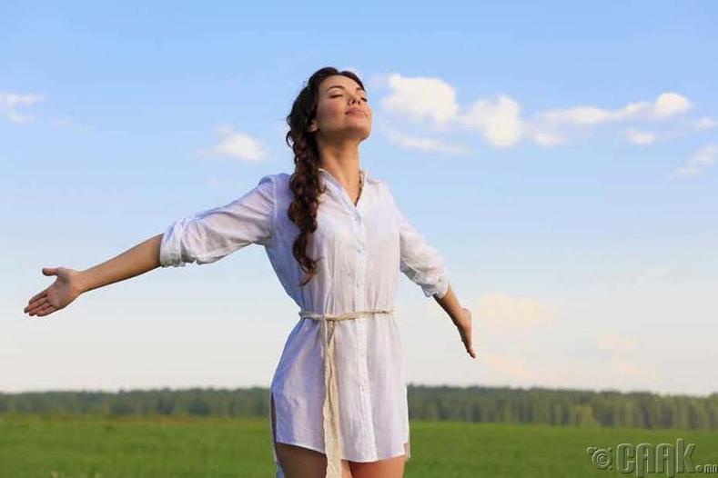 Хүн цэвэр агаар амьсгалах бүрт нүүрстөрөгчийн давхар ислийг үгүй хийдэг
