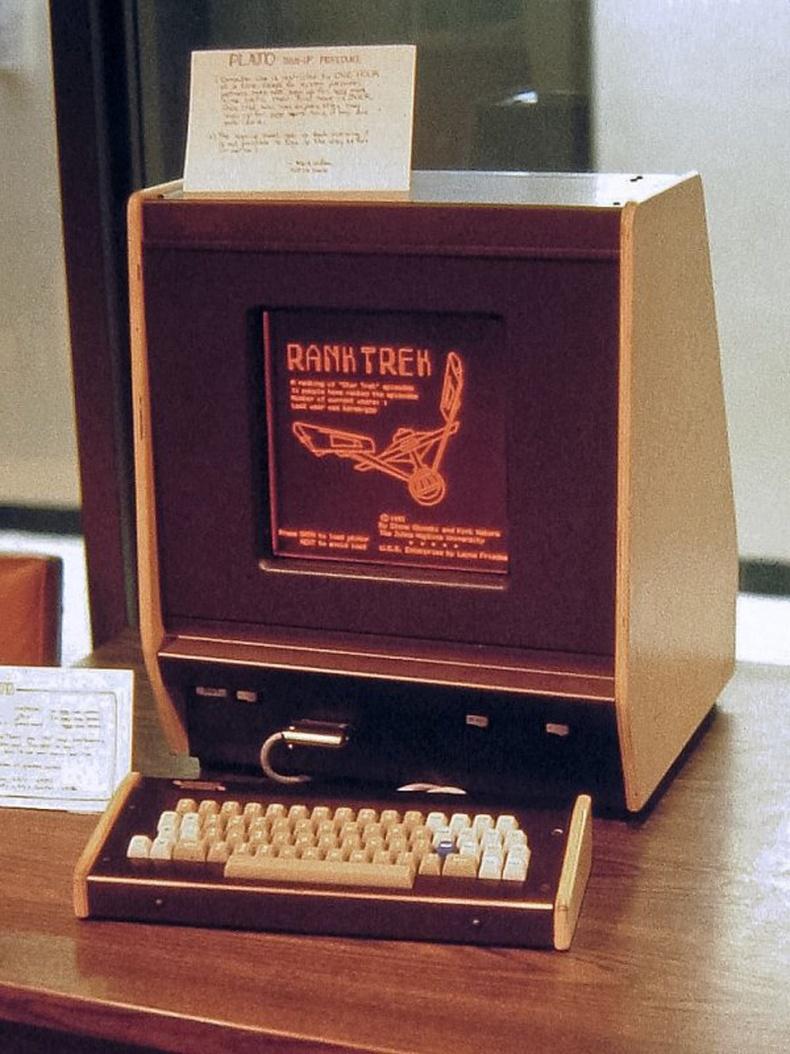 Хамгийн анхны плазма дэлгэц. Компьютерийн терминал PLATO V, АНУ - 1981 он