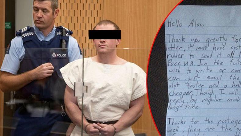 Шинэ Зеландын аймшигт халдлагыг үйлдсэн этгээдийн шоронгоос илгээсэн захидал