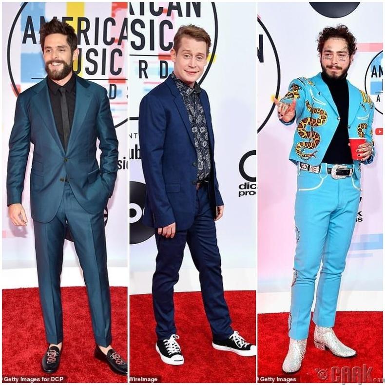 Дуучин Томас Рэтт (Thomas Rhett) жүжигчин Маколей Калкин (Macaulay Culkin) болон дуучин Пост Малон (Post Malone)