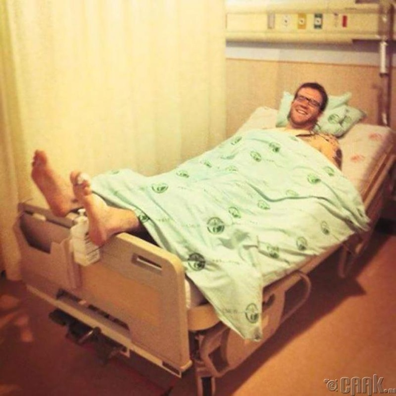 Эмнэлэгт хэвтсэн нь