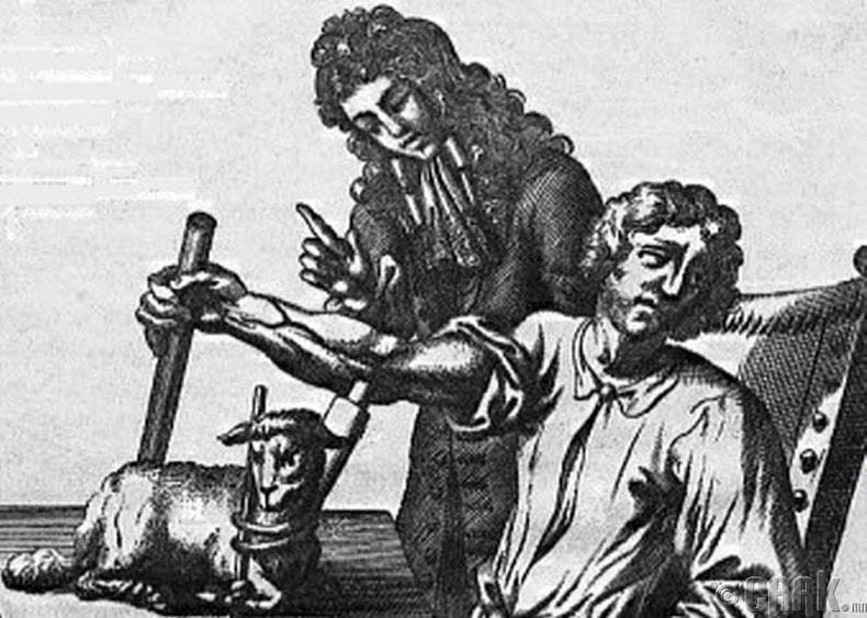 1667 онд Францад хонины цус хүнд сэлбэж байв