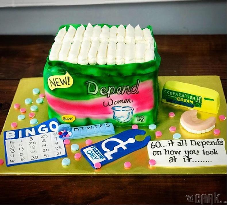 60 настай эмэгтэйд зориулсан бялуу