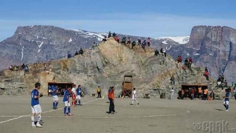 Улсынхаа нутаг дэвсгэрт зүлэг ургуулах боломжгүй учир Гренланд ФИФА-д элсэх боломжгүй.