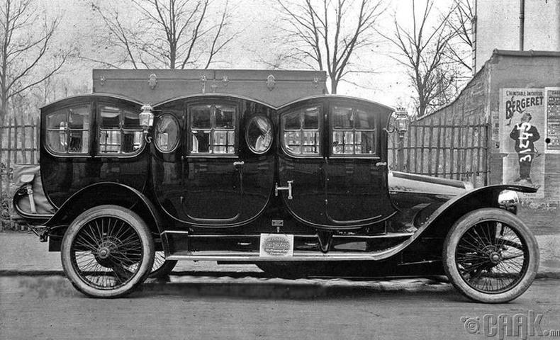 Анхны лимузинуудын нэг - Франц, 1910 он