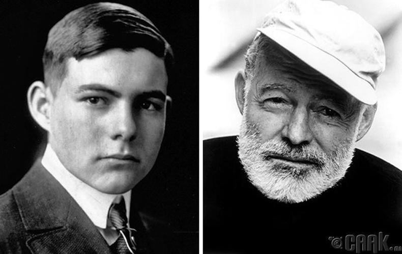 Зохиолч Эрнест Хэменгуэгийн (Ernest Hemingway) ахлах сургуулиа төгсөх үеийн зураг