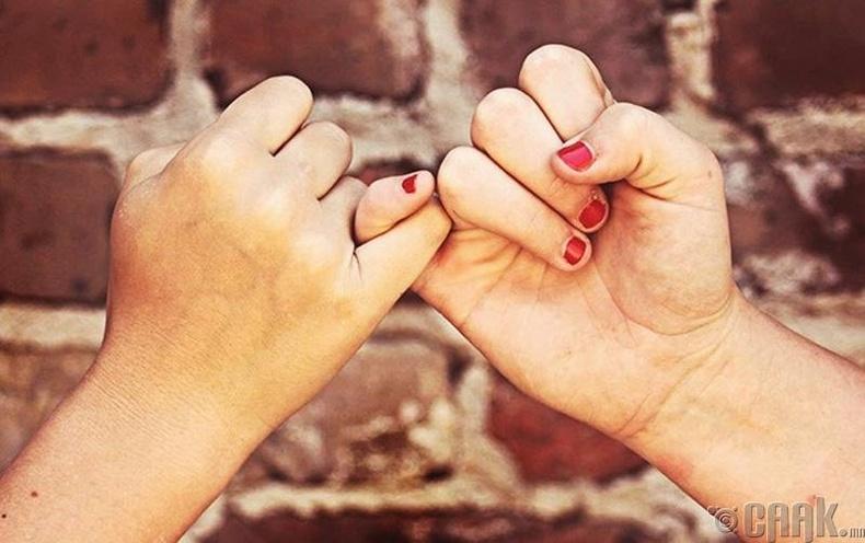 Чигчий хуруугаараа амлалт өгөх учир