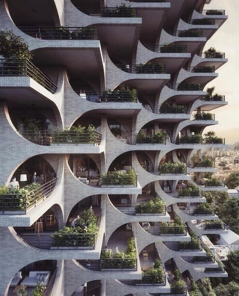 Израилийн Тель-Авив дахь орон сууцны барилга