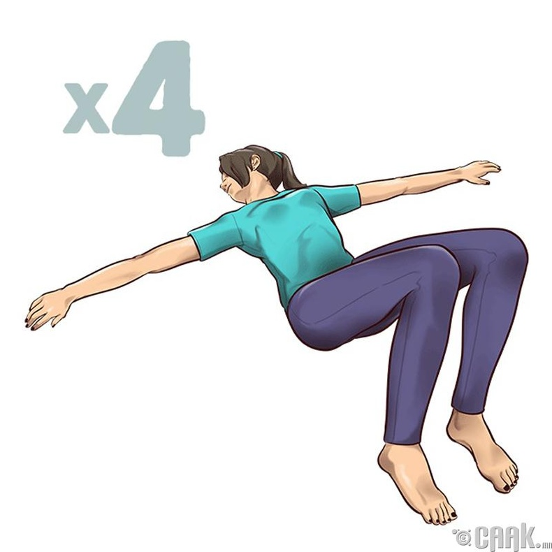 Сээр нурууг бэхжүүлж сунгах дасгал