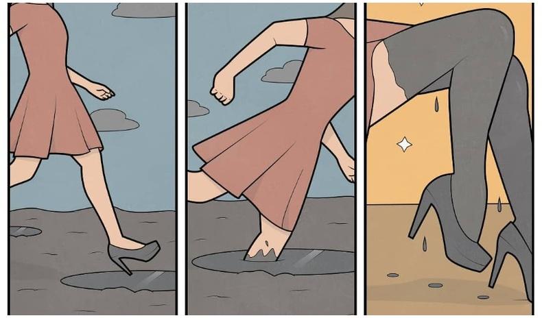 Бидний амьдралд үргэлж тулгардаг асуудлуудыг хөгжилтэйгээр харуулсан комик зургууд