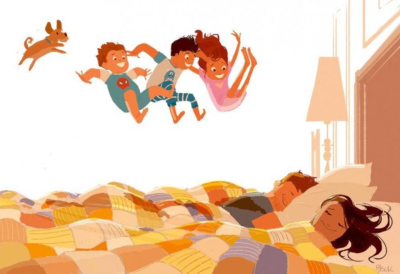 Хайр татам хүүхдүүд таныг өглөө бүр сэрээнэ