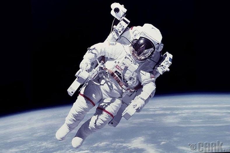 Тэдний хувцас задгай сансарт хаягдахаас сэргийлсэн таталцлын хүчтэй