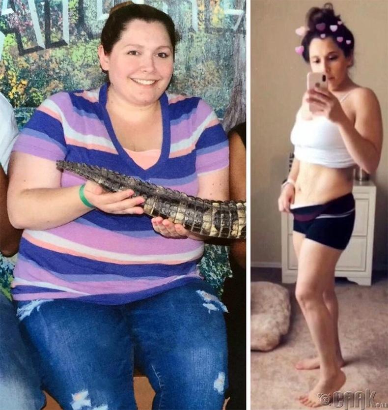 Зөвхөн хоолны дэглэм барьж 25 кг жин хассан бүсгүй