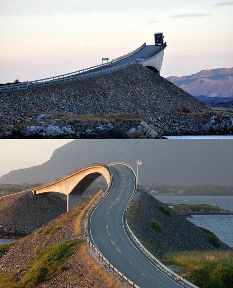 Норвегид байдаг Storseisundet гүүр