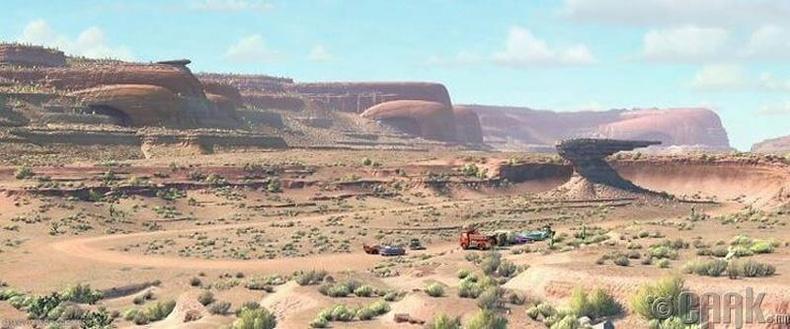 """""""Cars"""" машин дээр гардаг уулнууд хуучны машины хэлбэртэй"""