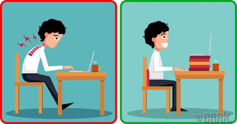Компьютерын ард их суухад нүд ядраад байвал ямар арга хэмжээ авах вэ?