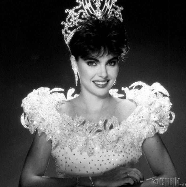 """Miss Universe-1986""-ын ялагч:Венесуэлийн гоо бүсгүй Барбара Паласиос, 22 настай, 173 см өндөр."