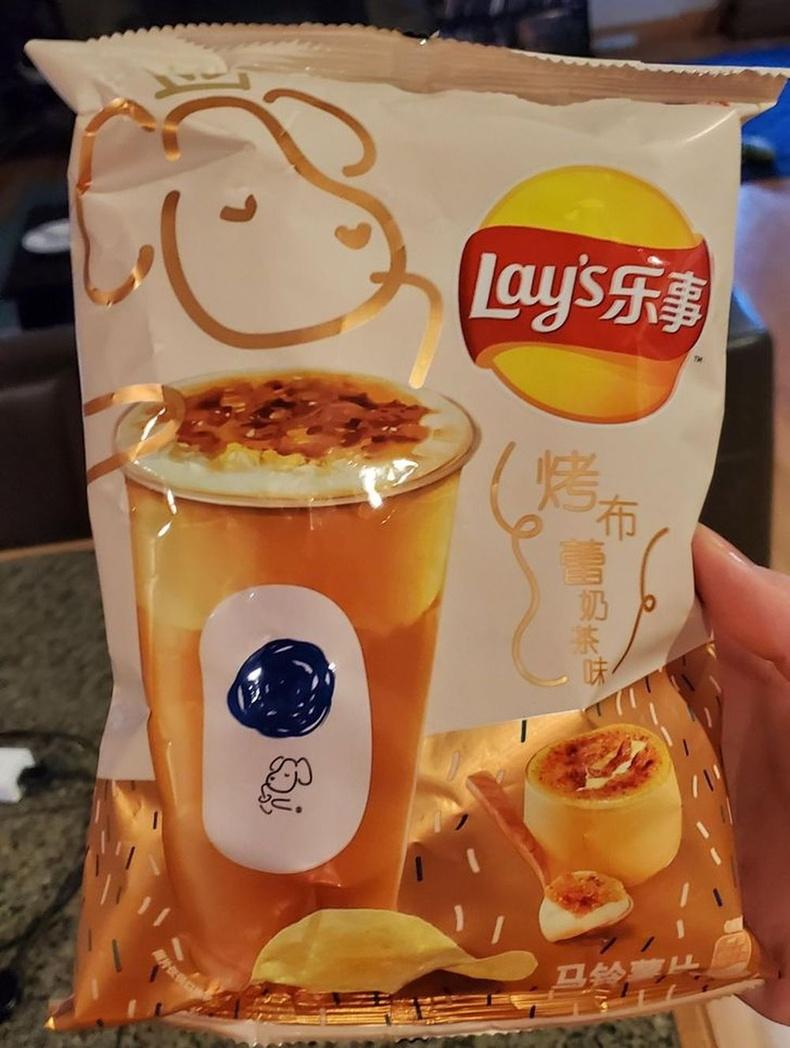 """""""Crème brûlée"""" цайны амттай чипс"""