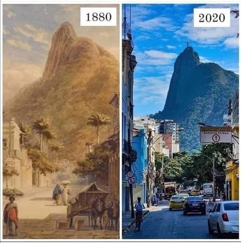 Рио-де-Жанейро 1880 онд болон 2020 онд
