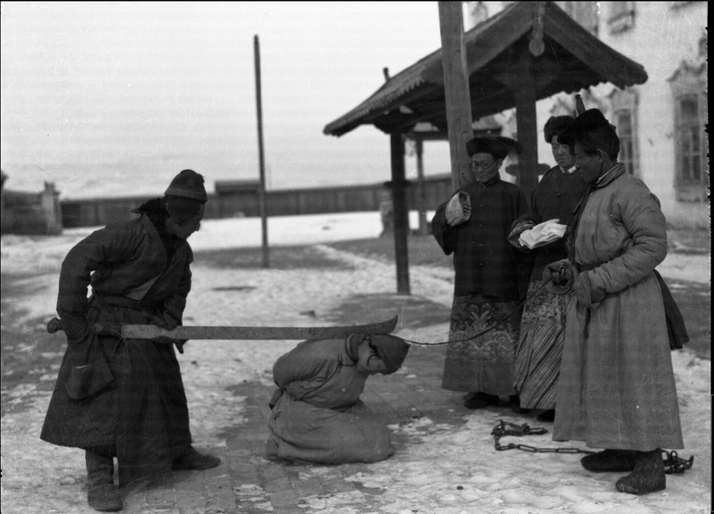 Цаазын ял гүйцэтгэж байгаа нь - Монгол, 1913