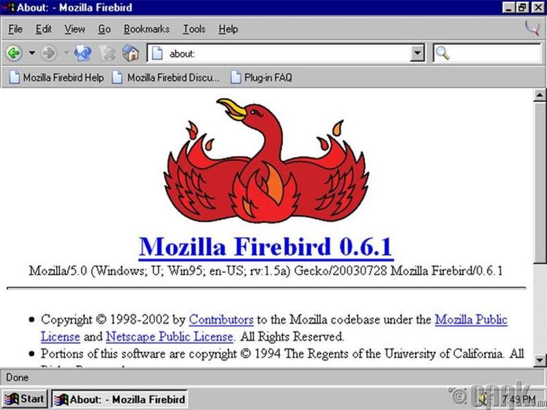 """""""Firebird"""" - """"Firefox"""""""