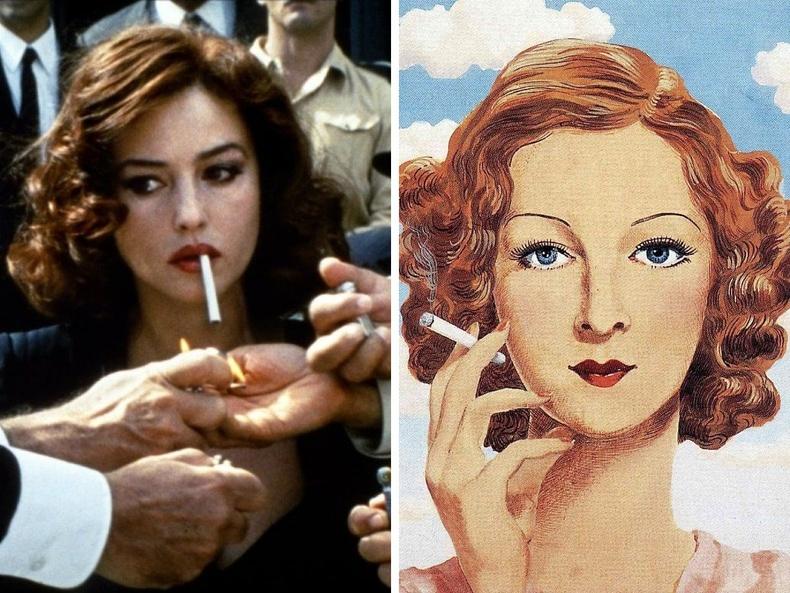 """Малена"" (2000), найруулагч Жузеппе Торнаторе - ""Жоржетта Магритт"", зураач Рене Магритт, 1934"