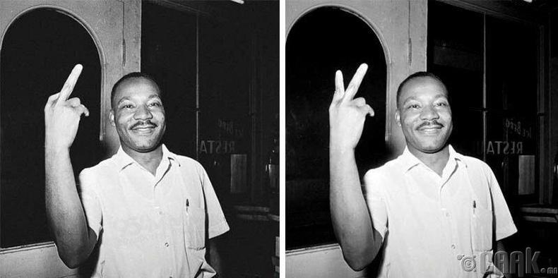 Мартин Лютер Кингийн эвгүй хуруу