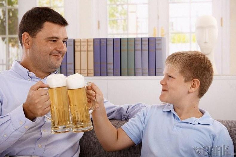Алкохолизм удамшдаггүй