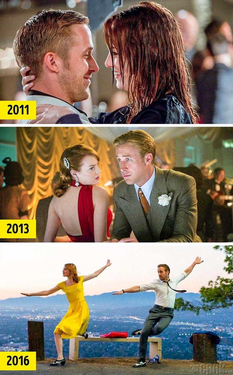 Райан Гослинг болон Эмма Стоун хамт гурван кинонд тоглосон