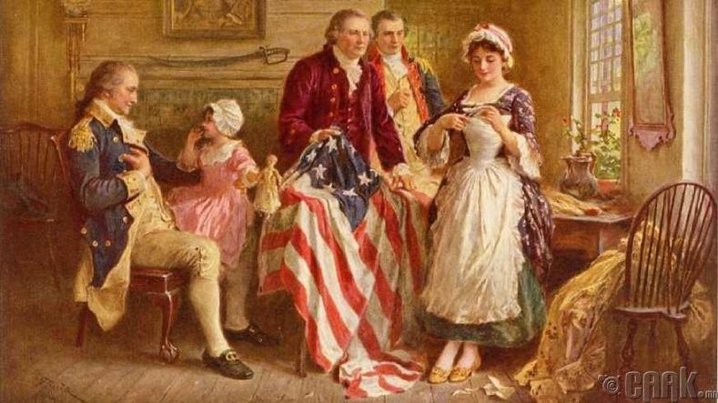Бид бодохдоо: Бетси Росс Америкийн анхны далбааг оёсон
