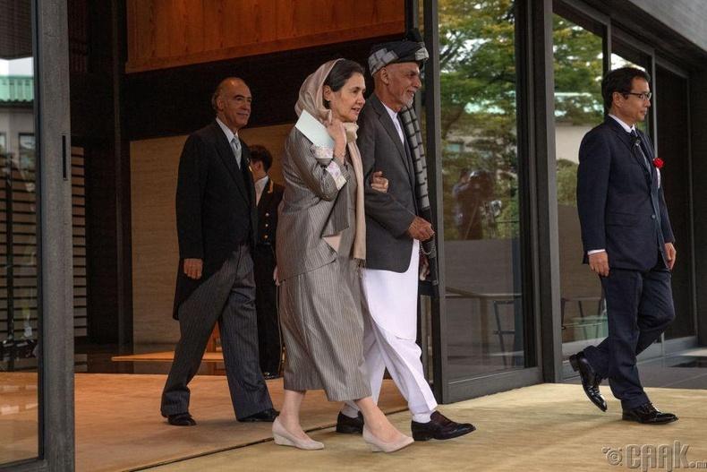 Афганистаны Ерөнхийлөгч Ашраф Гани, тэргүүн хатагтай Рула Гани нар