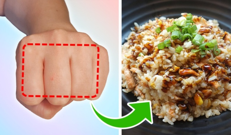Өдөрт идвэл зохих хоолны хэмжээг өөрийн гараа ашиглан мэдэх арга