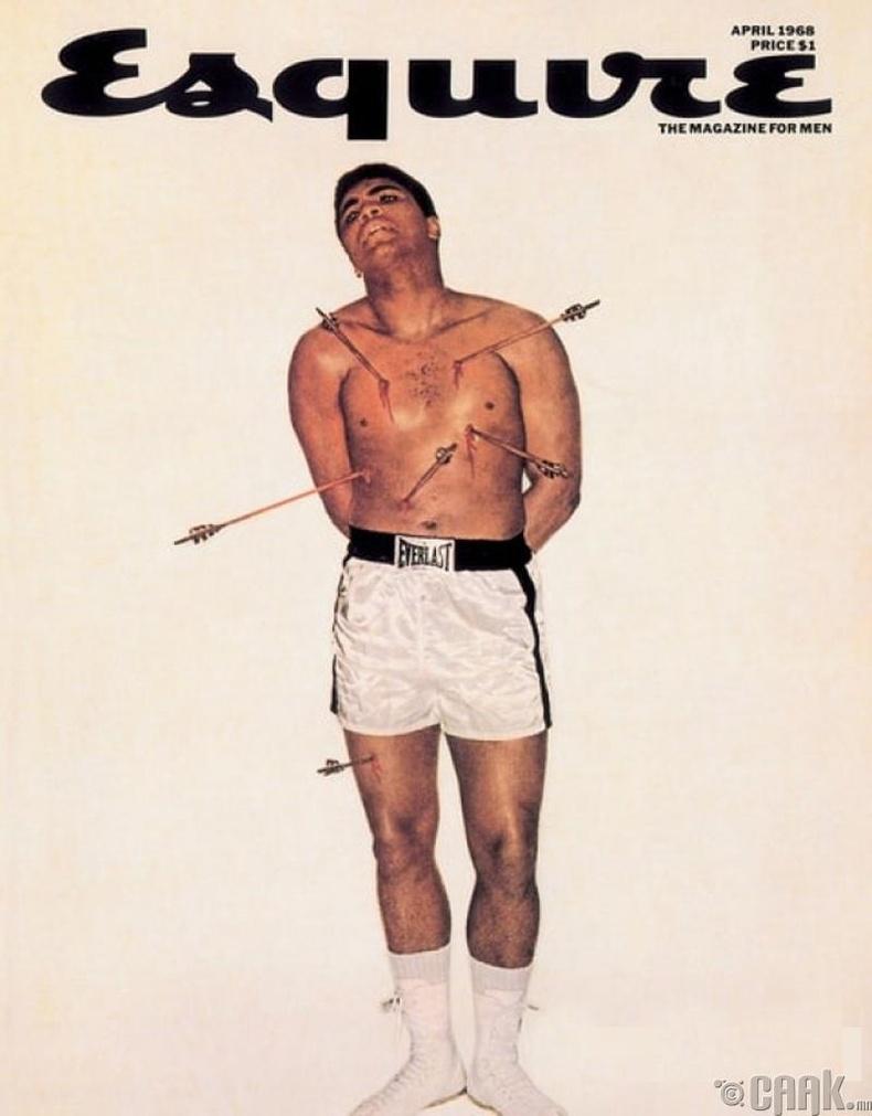"""26 настай боксчин Мухаммед Али (Muhammad Ali), 1968 онд """"Esquire"""" сэтгүүлийн нүүрэнд"""