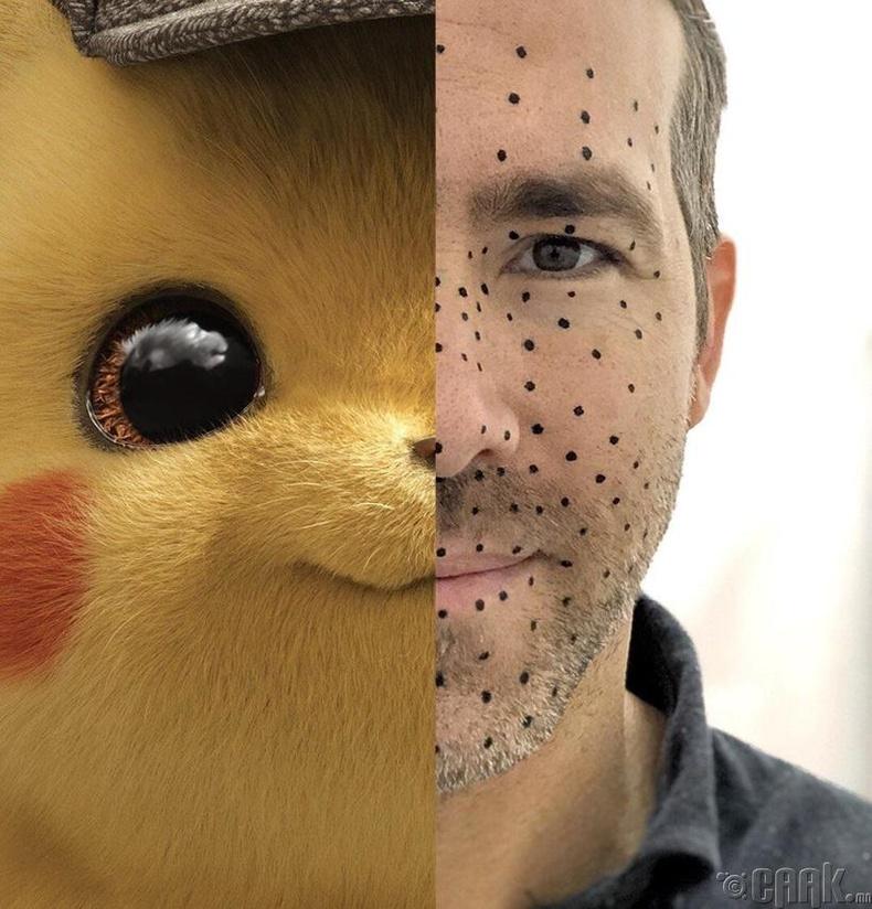 """Удахгүй гарах """"Pokemon - Detective Pikachu"""" киноны гол дүрд Райн Рейнольдс тогложээ"""