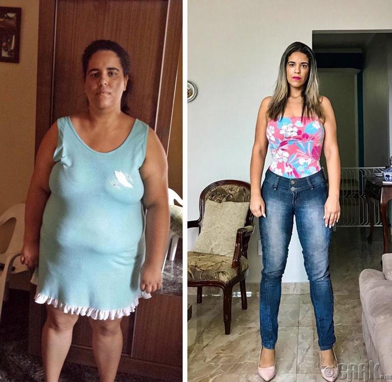 Таван жилийн өмнө 126.5 кг жинтэй байсан энэ бүсгүй одоо 67.5 кг жинтэй болсон бөгөөд илүү залуу харагдаж байна