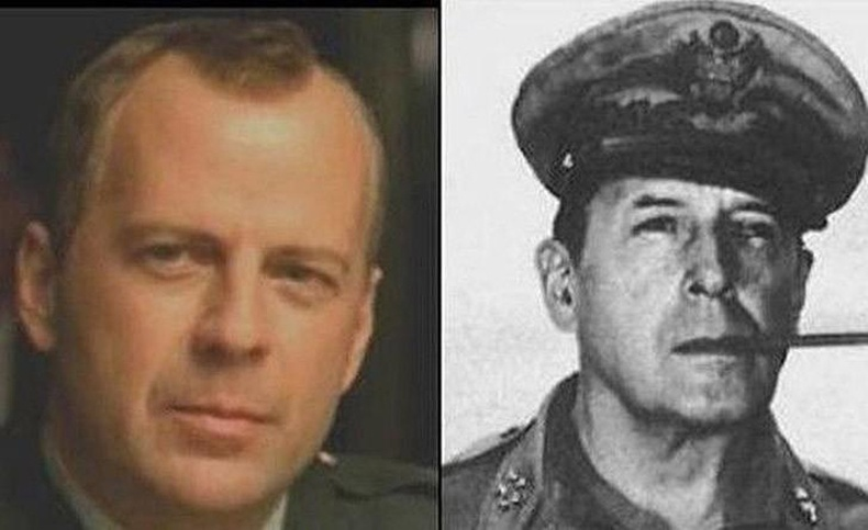 Брюс Уиллис, генерал Дуглас МакАртур (Bruce Willis and General Douglas MacArthur)