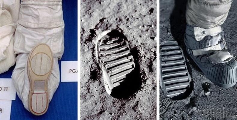 Асуудал: Саран дээрх Армстронгийн мөр яагаад түүний гутлын мөртэй таарахгүй байна вэ?