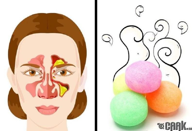 Хамар, амьсгалын замын өвчлөл - Нөөшилсөн үнэр үнэртэх