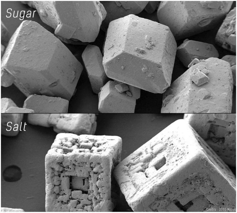 Давс ба сахар микроскопын дуранд